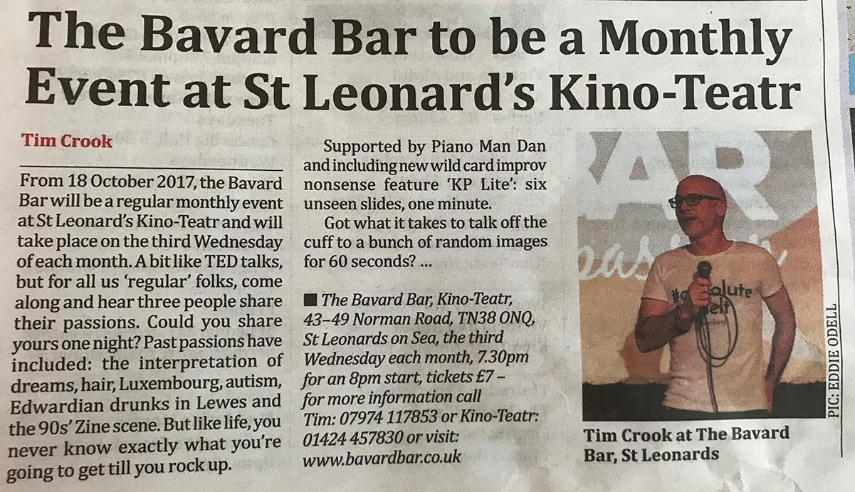 Bavard Bar To Be Monthly Event at Kino-Teatr